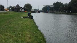 Weinig vis gevangen in het Merwede kanaal